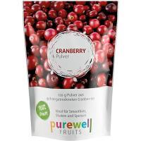 CRANBERRY Pulver von Purewell FRUITS - 120g veganes Pulver