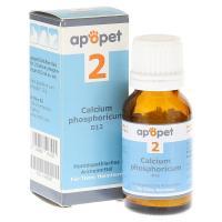 APOPET Schüßler-Salz Nr.2 Calcium phos.D 12 vet. 12 Gramm