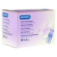 ALVITA physiologische Kochsalzlösung Ampullen 30x5 Milliliter