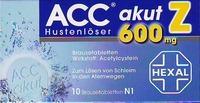 Acc Akut 600 Z Hustenloeser Brausetabl. 10 ST