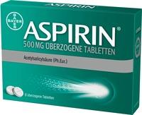 Aspirin 500 Mg Überzogene Tabletten 8 ST