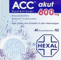 Acc Akut 600 Brausetabl. 40 ST