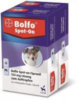 Bolfo Spot On für mittelgroße Hunde bis 20 kg 2 x 3 Pipetten