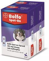 Bolfo Spot On für sehr große Hunde bis 60 kg 2 x 3 Pipetten