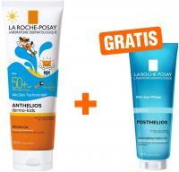 La Roche Posay Anthelios Dermo-Kids Wet Skin Gel LSF 50+ 250 ml Gel + gratis Posthelios 40 ml Mini
