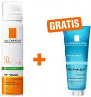 La Roche Posay Anthelios transparent Gesichtsspray LSF50 75 ml Spray + gratis Posthelios 40 ml Mini