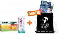 Sparset Männergrippe Nasic 15 ml + Neo Angin Benzydamin Zitrone 20 St. + gratis Turnbeutel