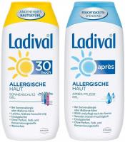 Sparset Sonnenschutz Ladival allergische Haut Gel LSF 30 200 ml + Ladival Allerg. Apres Gel 200 ml 1 Set