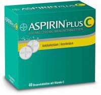 Aspirin Plus C 40 Brausetabletten über kaufen und sparen